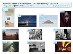 DBC 2016 uitslag