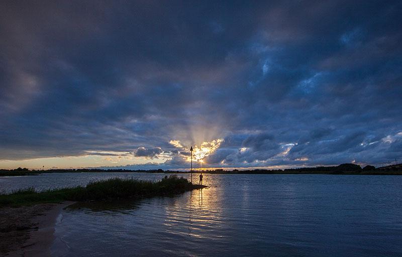 Peter van Haastrecht, zonsondergang